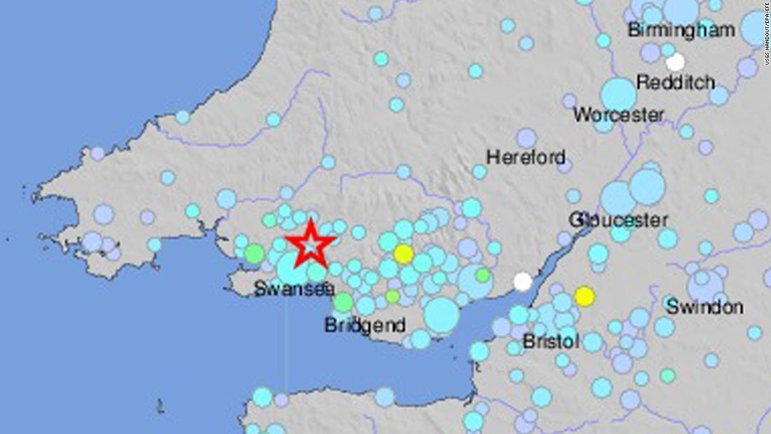 Wales shaken by earthquake CNN