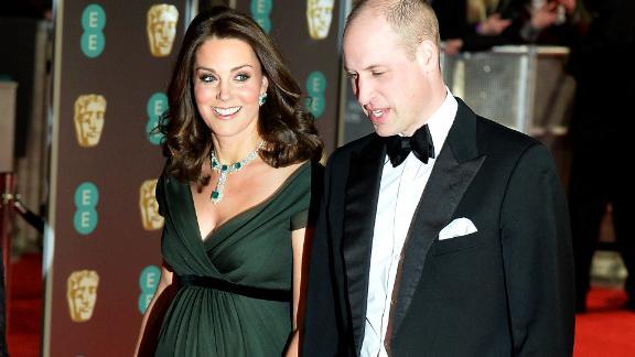 Prince William, Duke of Cambridge and Catherine, Duchess of Cambridge attend the EE British Academy Film Awards (BAFTA)