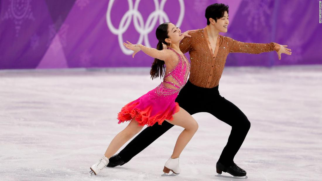 Americans Maia Shibutani and Alex Shibutani are in fourth place after Monday's short dance.