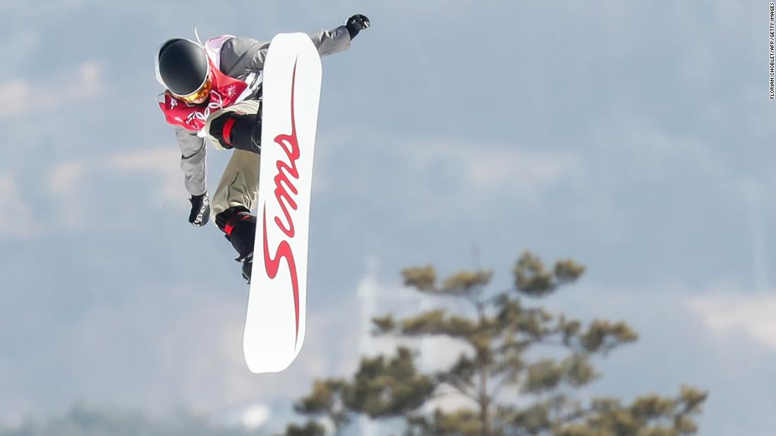 Slovakia's Klaudia Medlova competes in the big-air event.