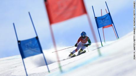PYEONGCHANG-GUN, SOUTH KOREA - FEBRUARY 15: A general view as Mialitiana Clerc of Madagascar competes during the Ladies' Giant Slalom on day six of the PyeongChang 2018 Winter Olympic Games at Yongpyong Alpine Centre on February 15, 2018 in Pyeongchang-gun, South Korea.  (Photo by Sean M. Haffey/Getty Images)