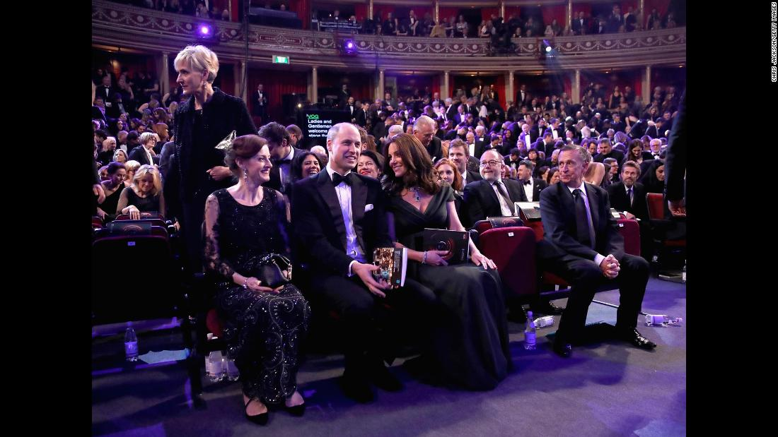 William and Kate attend the EE British Academy Film Awards (BAFTA) at the Royal Albert Hall in London on February 18.