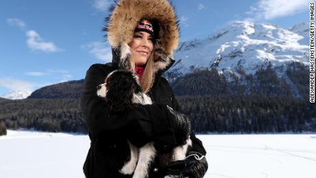 Vonn and Lucy in St Moritz, Switzerland.