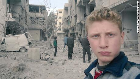 The 15-year-old documenting Eastern Ghouta massacre with selfie videos