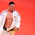 Czech Republic's Lukas Krpalek celebrates winning bronze at 2011 judo world championships