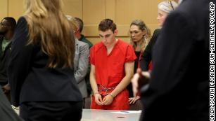 Nikolas Cruz appears in court for a status hearing before Broward Circuit Judge Elizabeth Scherer in Fort Lauderdale, Fla., Monday, Feb. 19, 2018.