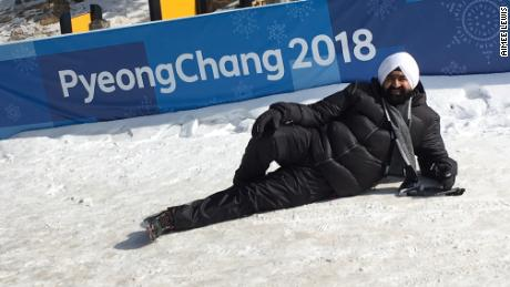Jasmeet Singh Chandok making the most of his time on the snow.