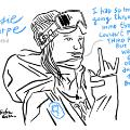 Cassie Sharpe sketch halfpipe Winter Olympics