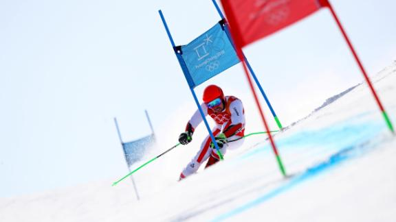 Austria's Marcel Hirscher won his second gold in the giant slalom on Sunday, finishing 1.27 seconds ahead of Norway's Henrik Kristoffersen -- the largest margin of victory in the competition since 1968.