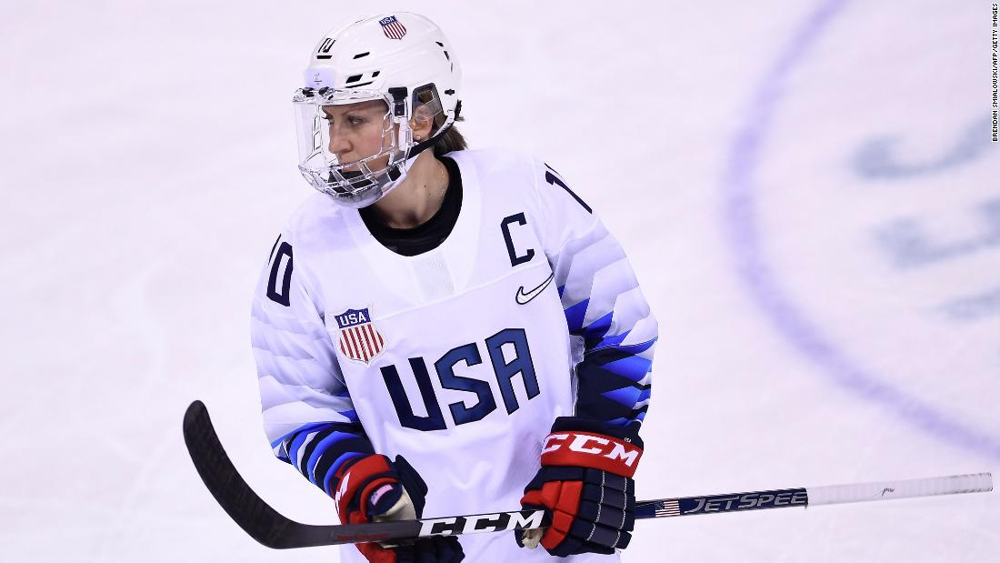 The United States is captained by forward Meghan Duggan, who was also on the 2010 and 2014 teams that won silver.