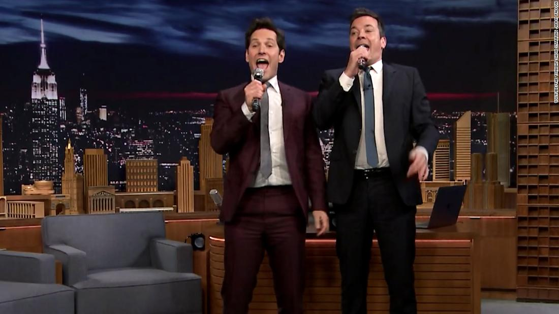 Jimmy Fallon interviews Paul Rudd in 60 seconds