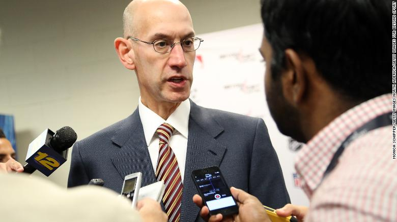 NBA Commissioner Adam Silver, who is credited with fostering a progressive environment in the league.