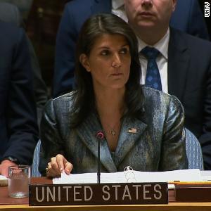 'I will not shut up,' Haley tells Palestinian negotiator
