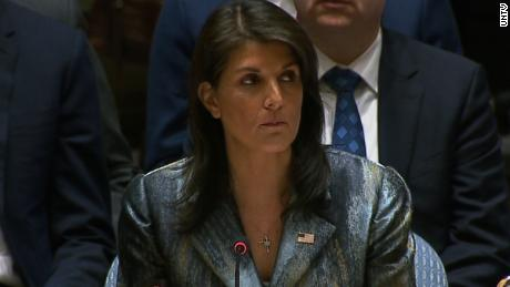 'I will not shut up,' Haley tells Palestinian negotiator