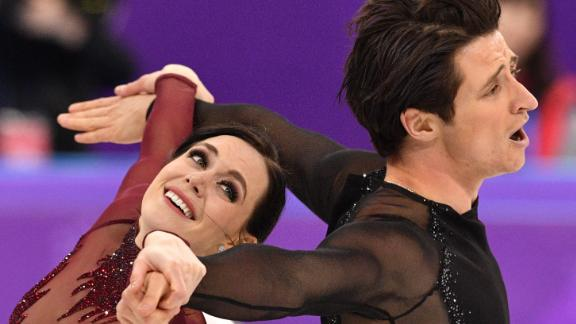 Canada's Tessa Virtue and Scott Moir compete in the free dance of the figure skating event during the Pyeongchang 2018 Winter Olympic Games on February 20.