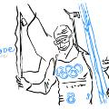Martin Fourcade sketch Winter olympics
