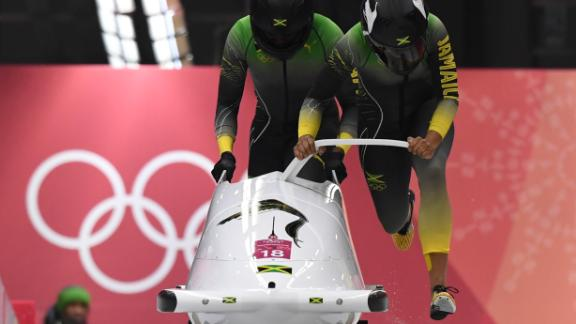 The Jamaican women bobsled team made their Olympic debut at PyeongChang, 30 years after the men