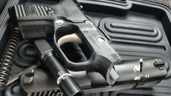 Amanda Meyer has destroyed her handgun, a 0.40 Sig Sauer P229 following the Florida school shooting