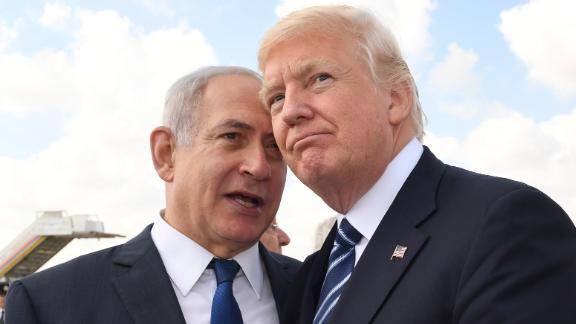 JERUSALEM, ISRAEL - MAY 23:  (ISRAEL OUT) In this handout photo provided by the Israel Government Press Office (GPO), Israeli Prime Minister Benjamin Netanyahu speaks with US President Donald Trump prior to the President