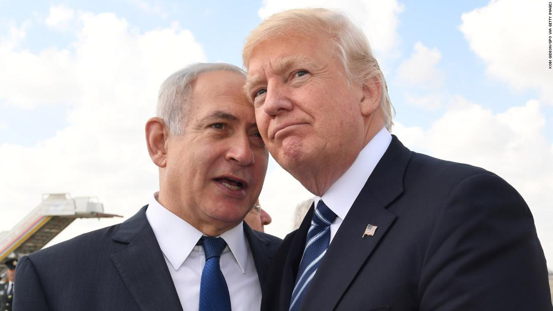 Netanyahu speaks to US President Donald Trump in May 2017. Trump visited Israel and the West Bank during his first foreign trip as President.