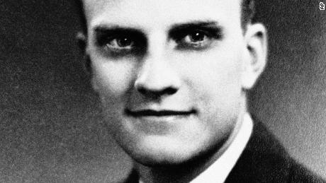 "William ""Billy"" Graham at age 17 on his graduation from Charlotte High School in June 1935. It was before his graduation from high school that Billy had embraced religion at a local revival meeting and had decided on the pulpit rather than the baseball diamond. (AP Photo)"