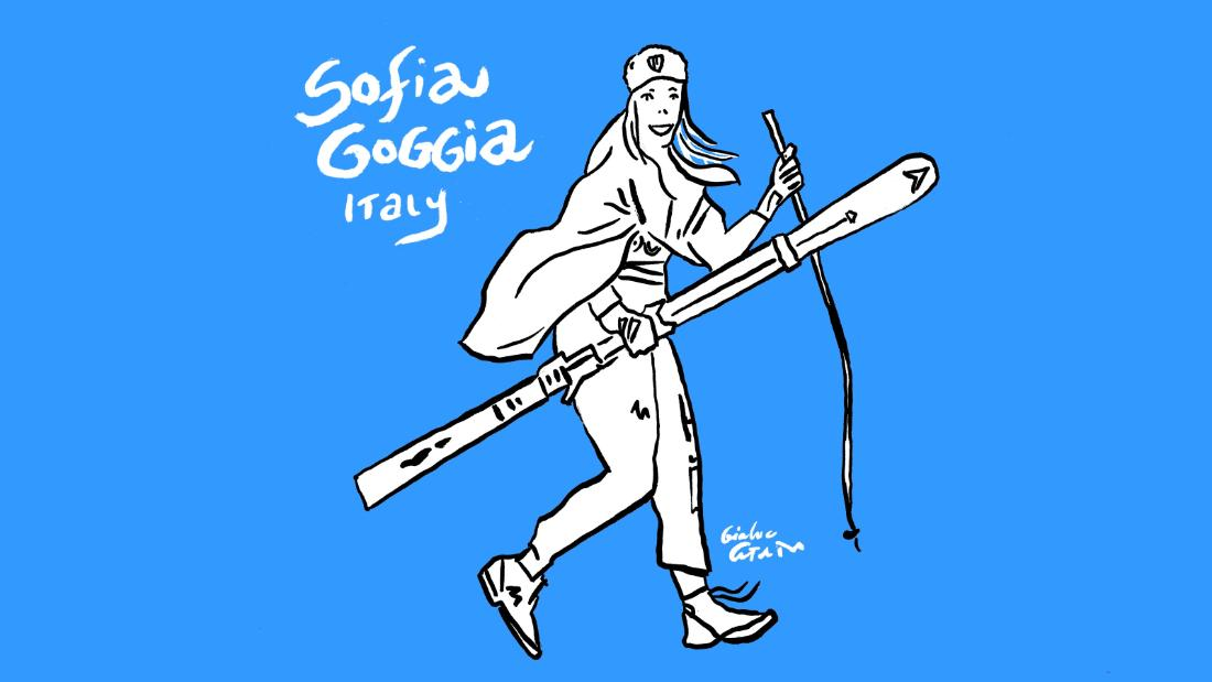 Sofia Goggia wins downhill gold.