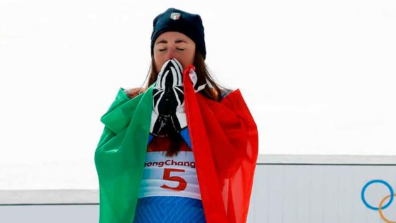 It was the Italian, Sofia Goggia -- who is currently leading the World Cup downhill standings -- that beat Vonn to gold. The 25-year-old became the first Italian to win gold in the women
