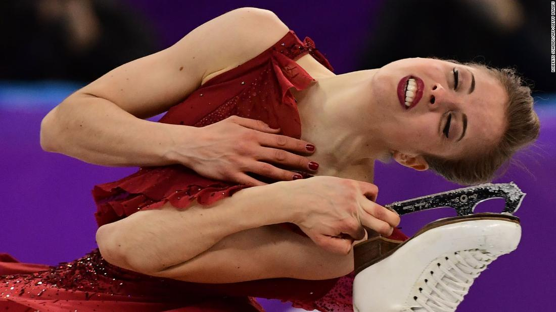 Italian figure skater Carolina Kostner performs her short program.