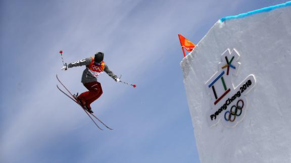 Gus Kenworthy competes in the men's skiing slopestyle final at PyeongChang.