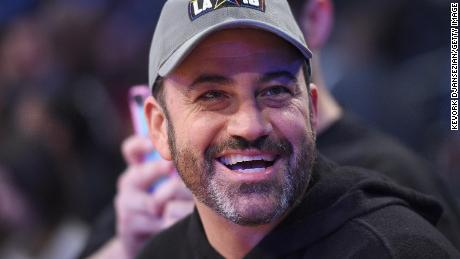 Jimmy Kimmel attends the NBA All-Star Game 2018 at Staples Center on February 18, 2018 in Los Angeles, California.  (Photo by Kevork Djansezian/Getty Images)