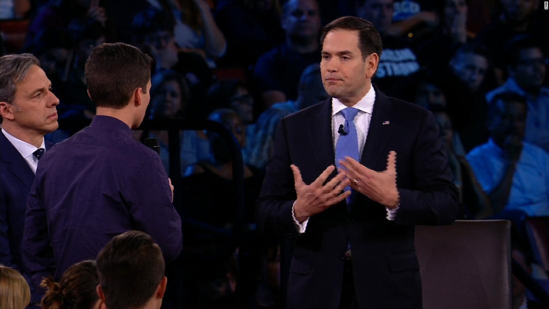 6 things Marco Rubio said at the CNN town hall that made news in the US gun debate