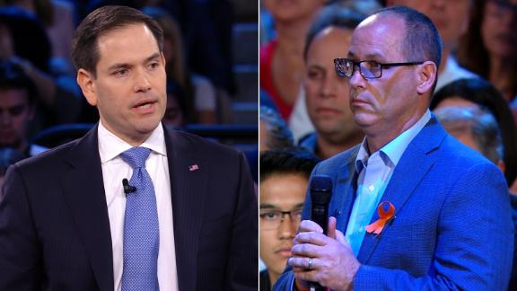 Marco Rubio and Fred Guttenberg