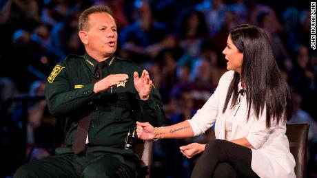 Sheriff Scott Israel and NRA spokeswoman Dana Loesch