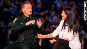 "Sheriff Scott Israel defended his office's actions to NRA spokeswoman Dana Loesch at CNN's town hall: ""I'm calling BS"""