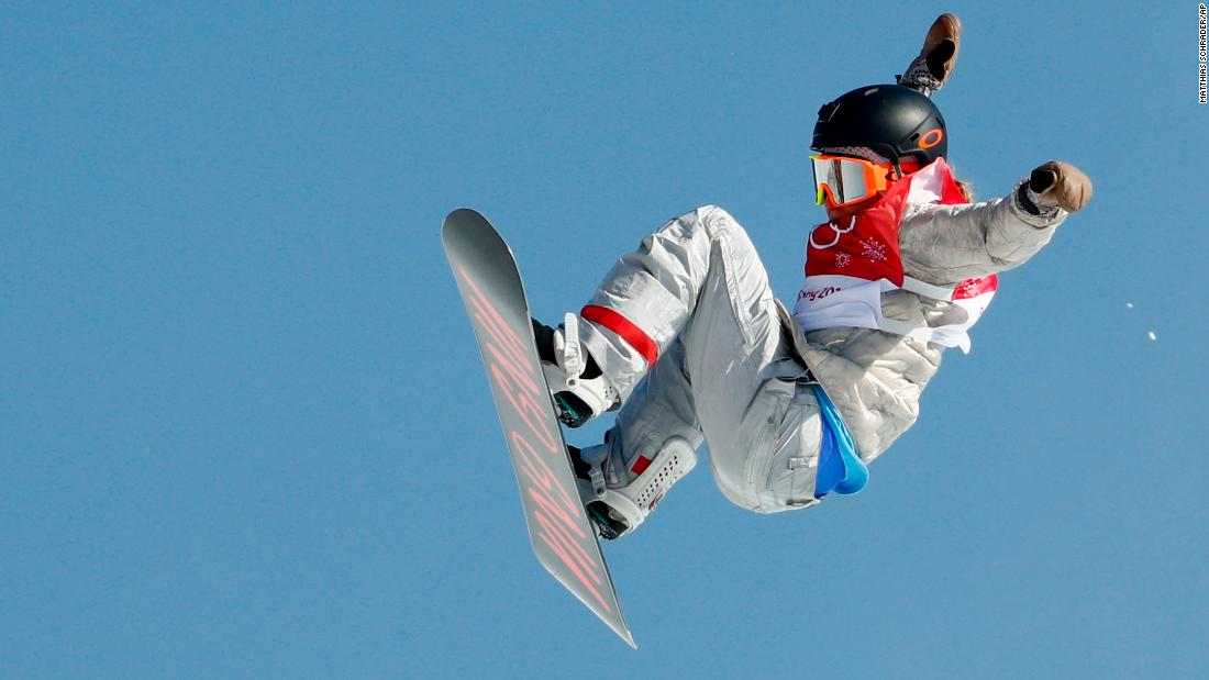 American Jamie Anderson won the silver in the big-air event. Earlier in these Olympics, Anderson won gold in the slopestyle.