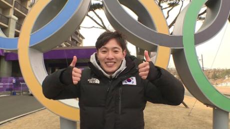 South Korean Olympic Ski Jumper Kim Hyun-ki in his hometown of PyeongChang during the 2018 Winter Olympics.