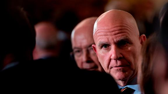 National Security Advisor H. R. McMaster arrives to attend an event where US President Donald Trump nominated Kirstjen Nielsen to be US Secretary of Homeland Security in the East Room of the White House October 12, 2017 in Washington, DC. / AFP PHOTO / Brendan Smialowski        (Photo credit should read BRENDAN SMIALOWSKI/AFP/Getty Images)