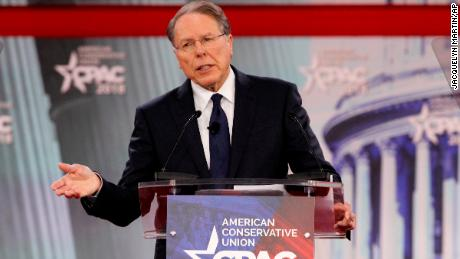 NRA CEO Wayne LaPierre speaks at the Conservative Political Action Conference outside Washington.
