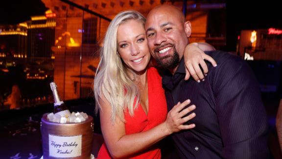 Kendra Wilkinson and Hank Baskett celebrate her birthday on June 8, 2017 in Las Vegas, Nevada.