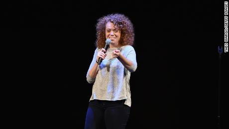 NEW YORK, NY - MAY 22:  Comedian Michelle Wolf performs onstage during Vulture Festival presents Sarah Silverman & Friends at BAM on May 22, 2016 in New York City.