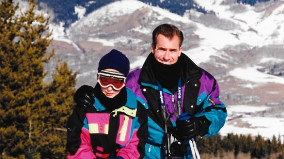 Father and daughter on a ski trip to Crested Butte, Colorado, in December 1997.