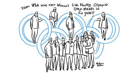 USA women beat Canada for ice hockey gold.