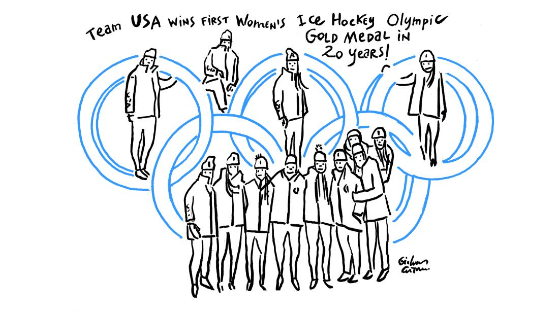 USA women beat Canada for ice hockey gold.