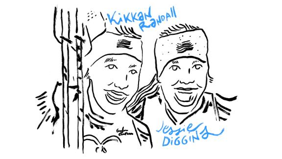 Kikkan Randall and Jessica Diggins win first US women