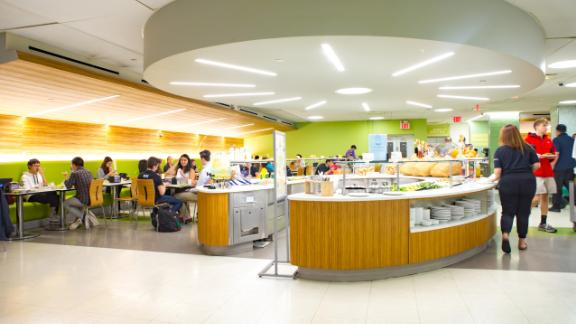 The Weinstein Dining Hall at NYU, where the menu was served.