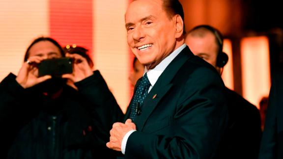 Former prime minister Silvio Berlusconi could play kingmaker in Sunday's election.