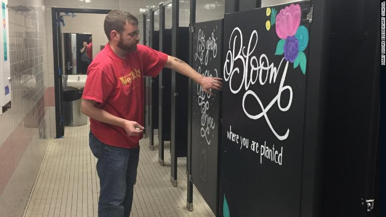 Parents Paint Messages Of Joy And Kindness On School Bathroom Stalls Amazing Bathroom Stalls Design