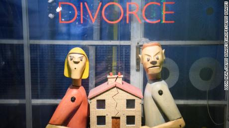 "LONDON, ENGLAND - FEBRUARY 15:  A tug of war-style ""Divorce"" machine is seen in the ""Novelty Automation"" gallery on February 15, 2017 in London, England. The gallery includes a selection of handmade arcade-style satirical machines, ranging from an alien probe device to a machine that simulates trying to successfully climb the housing ladder, with or without the assistance of the ""Bank of Mum and Dad"".  (Photo by Leon Neal/Getty Images)"