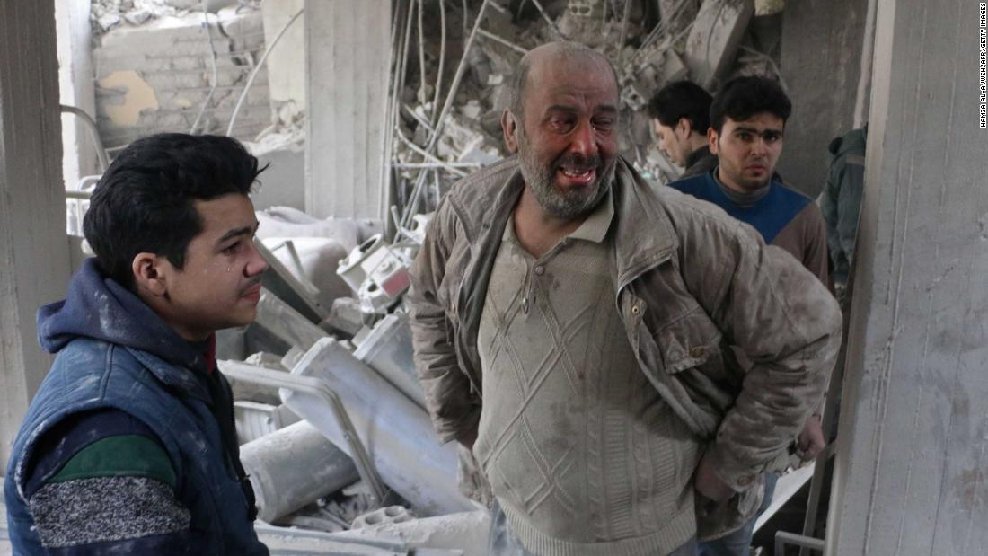 Airstrikes are still pounding Eastern Ghouta despite a ceasefire, doctor says