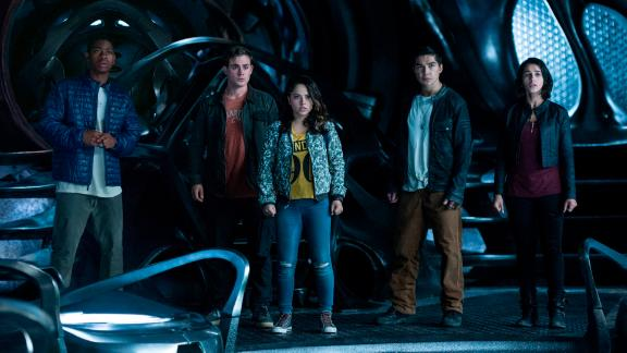 """<strong>""""Power Rangers""""</strong>: Go, go Power Rangers! A group of young people with superpowers come together to try and save the world.<strong> (Amazon Prime, Hulu) </strong>"""